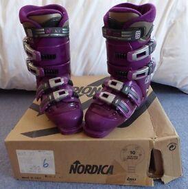 Nordica NXT 77 Ski Boots - Magenta, size 25.5 (UK 6)