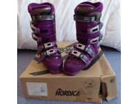 Nordica NXT 77 Ski Boots - Magenta, size 25.5 (UK 6)