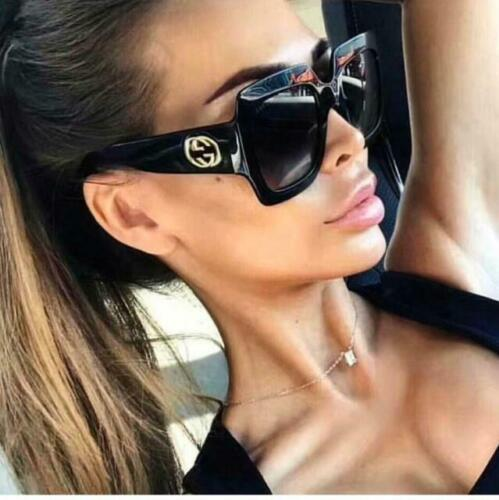 Gucci GG0053S 001 54mm Square Black -  Women Sunglasses with Light Grey Lens