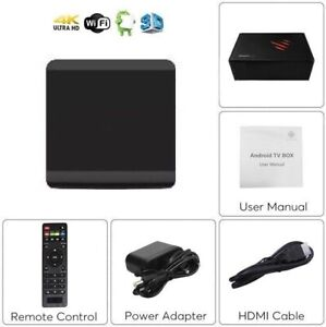 Android TV Box IPTV 4K WiFi 100MB INDIAN ITALY SPAIN FILIPINO