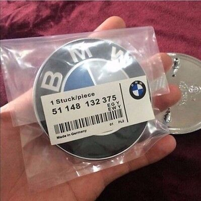 NEW BMW Car Emblem Chrome Front Badge Logo 82mm 2 Pins For BMW Hood/Trunk