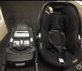 ISO fix base and Be safe car seat
