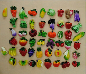 Refrigerator magnets Fruits Vegetables magnet For your Fridge Set of 10 Pieces