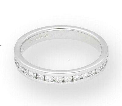 950 Platinum 0.40ct Channel Set Diamond Half Eternity Ring (Size L 1/2) 4mm Wide 4mm Platinum Channel Diamond Ring