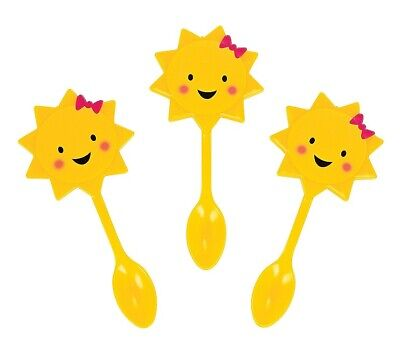 """You are My Sunshine Spoon Picks (25 Pack) 4"""" Plastic"""