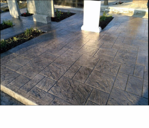 """2pcs Concrete texture stamp mat RUBBER  for printing on cement  """"Old city"""""""
