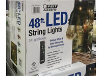 Feit 48ft (14.6m) LED Indoor/Outdoor Colour Changing String Lights