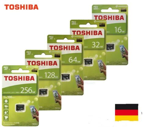 Toshiba micro SD M203  16 - 128GB  bis zu 100mb/s in OVP