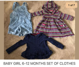 BABY GIRL 6-12 MONTHS CLOTHES
