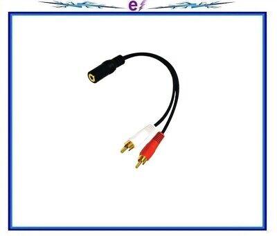 C&E 30S1-01260 2 x RCA Male, 1 x 3.5mm Stereo Female, Y-Cabl