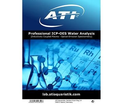 ATI ICP-OES Water Analysis Wassertest professionelle Wasseranalyse f. Meerwasser