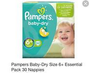Brand New 60 Pampers Size 6+ Nappies