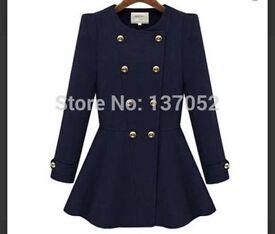 Women dark blue coat