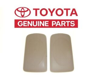 2002-2006 Toyota Camry Beige Replacement Rear Speaker Grille Covers Genuine OEM