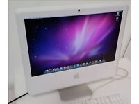 Apple iMac White - Intel 1.83GHZ + 2GB + 80GB + WiFi + BT - 10.6.8 SNOW LEOPARD - BARGAIN AT £75