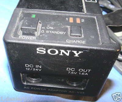 Sony AC-V55 Video 8 AC Power Adaptor Batterie Akku Ladegerät Charger NP-55 NP-77 - Ac-power Akku-ladegerät