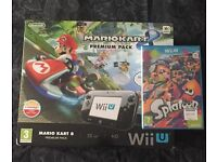 Wii U 32gb console with mario kart and splatoon