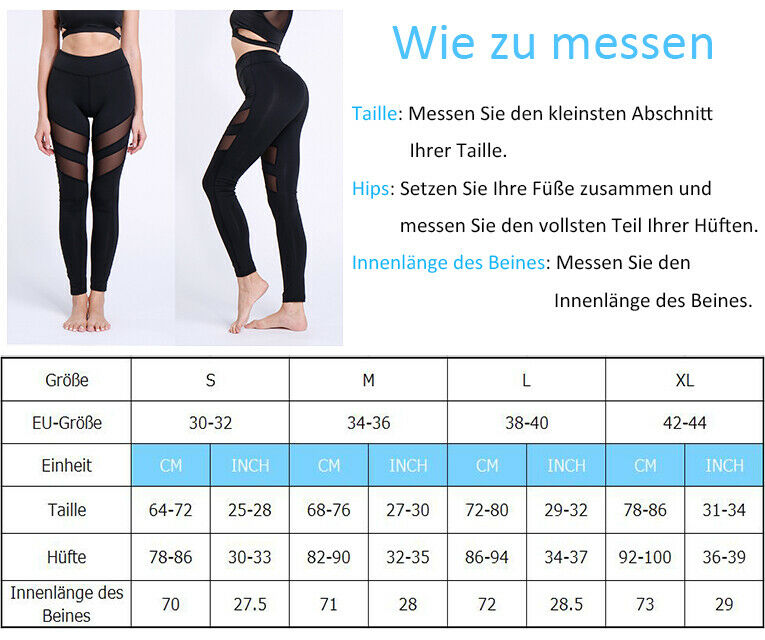 Damen PUSH UP Yoga Hose Gym Fitness Sport Leggings Jogginghose Sporthose Leggins