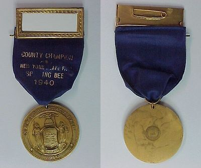 1940 Buffalo New York State Fair County Spelling Bee Champion Medal