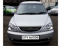 KIA CARENS 2006 2.0 DIESEL 77,000 MILES 5 DOOR MPV AUTOMATIC SILVER