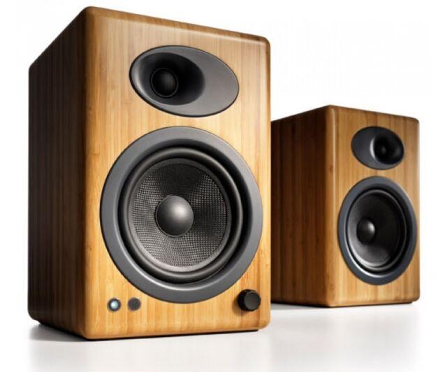 Audioengine A5+ Solid Bamboo Premium Active Powered Speakers (Pair)