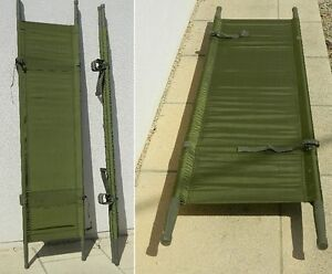 US Army Stretcher Folding Bed Camping Festival Bed NYLON - H/DUTY