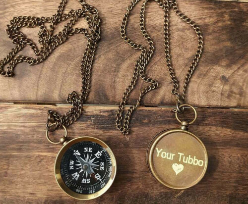 Your Tubbo Your Tommy Compass Necklace Minecraft, Friendship Pendent 2 Compasses