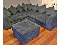 BRAND NEW L SHAPE LIVERPOOL JUMBO CORD CORNER AND 3+2 SEATER SOFA ON SALE