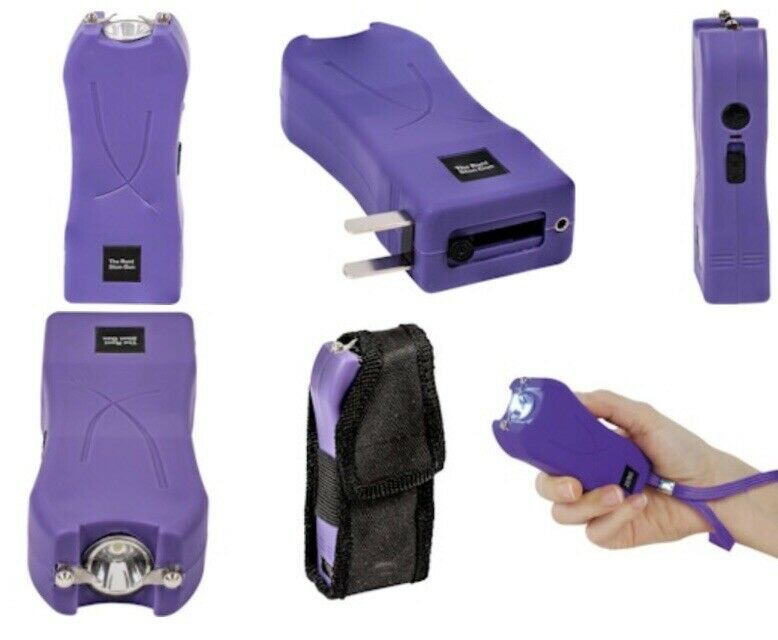 Police Stun Gun Maximum Power Rechargeable With Bright Flashlight LED HIGH RATED