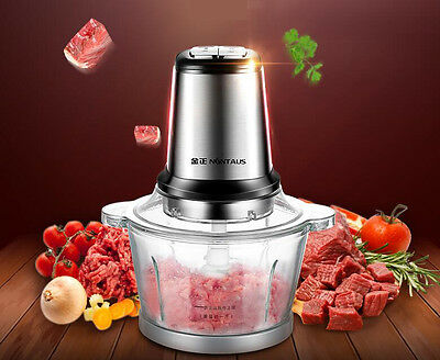 220V 200W Electric Meat Grinder Home Kitchen Sausage Maker Mince Stainless Steel