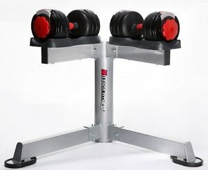 ADJUSTABLE DUMBBELL & STAND - AVAILABLE IN 40 OR 60 LBS