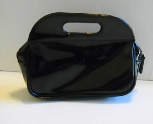 Never Used! Small, Black Patent Leather Purse~Pocketbook~Make-Up/Hand Bag w/Zip