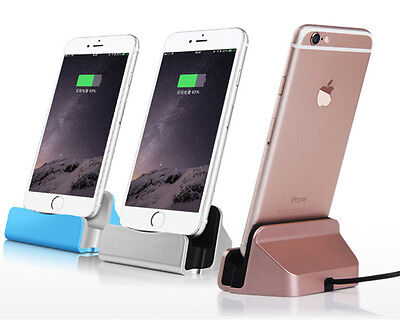 Cradle Dock Charger Station Desktop Charging Stand for iphone 6 6s 7 8 plus X UK