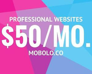 Professional Website Design and Maintenance - $50/month - Web Design - British Columbia - Call Us Today: +1 833-4-MOBOLO