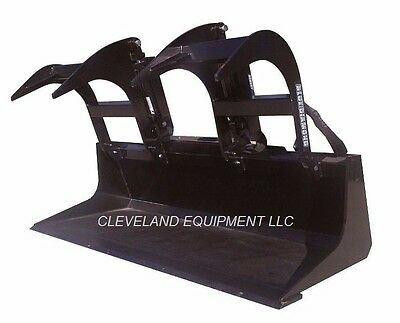 New 60 Ld Grapple Bucket Attachment Skid-steer Loader Case Gehl Terex Asv Jcb