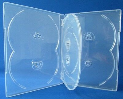 10 Premium Clear Multi Hold 6 Discs Dvd Cd Cases Standard 14mm 6c