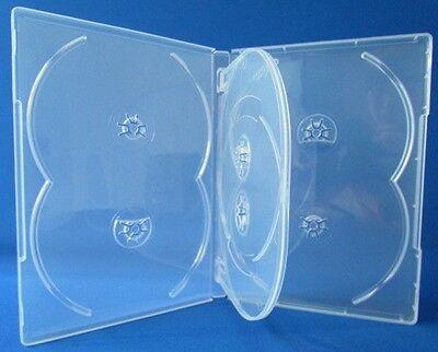 1 Premium Clear 6 Discs DVD CD Case, Mutli hold 6 discs, Standard 14mm, 6C
