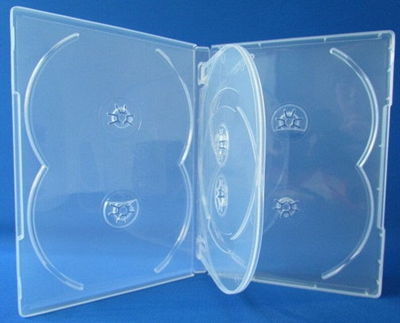 5 Premium 6-Disc DVD Case 14mm Clear - Holds 6 discs - Six Discs, 6C