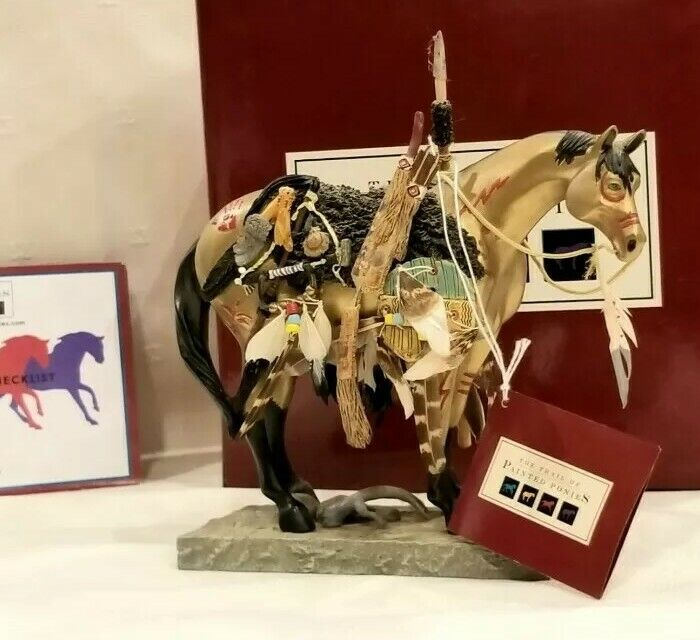 The Trail of The Painted Ponies #1549 RETIRED Medicine Horse 6th Edition NEW!