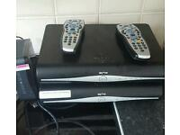 2 sky boxes and internet box
