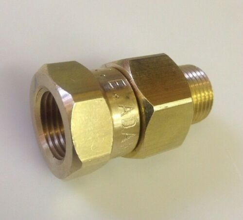 Pressure Washer Gun - Hose Swivel 3/8 MxF Brass 3000 PSI  J.E. Adams