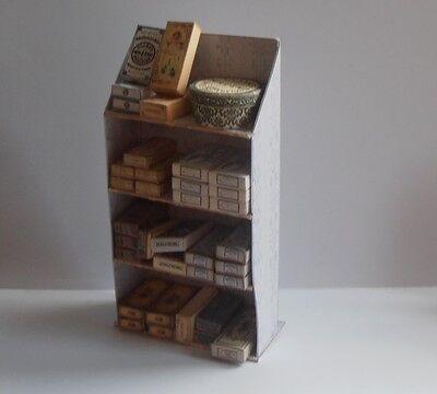 dolls house miniature haberdashery/sewing/cotton box display-stunning OOAK