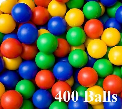 400x Plastic Balls for Ball Pits Childrens Kids Multi-Coloured Toys Play Pool