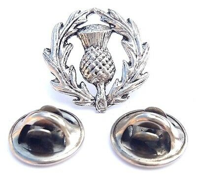Scotish Thistle Handcrafted in Solid Pewter In UK Lapel Pin Badge