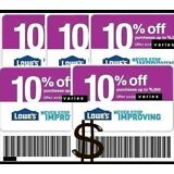 [5] Five Lowes 10% OffCoupons-ONLINE/IN STORE Exp.11/30/17-Fast Delivery Lowe's