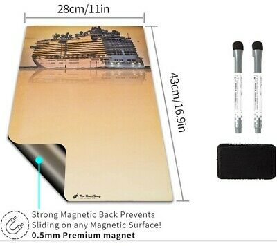 Magnetic Dry Erase Board Drawing Whiteboard By Haas 17x11 Sunset Cruise Theme
