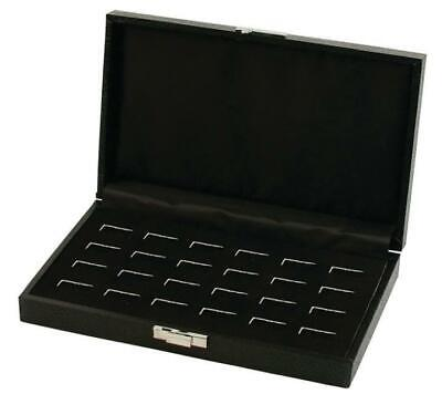 24 Wide Slot Ring Case - Black Pawn Store Counter Jewelry Display Holder