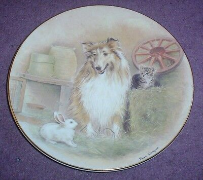 Royal Worcester 150th Anniversary Of The RSPCA THREE'S COMPANY Plate #1