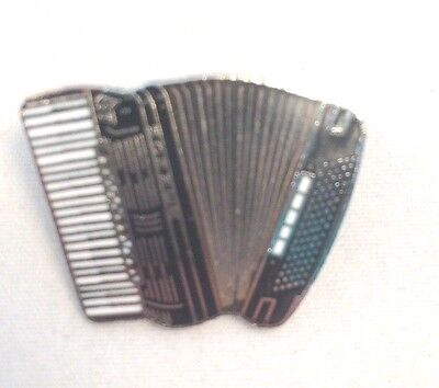 Mini Accordion Black Pin Brooch Badge Music Gift New Free Shipping AIM51A