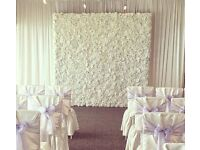 Crystal Centrepiece Hire £9 LED LOVE Sign Hire Stage Decorations £299 Royal Throne Chair Hire £199